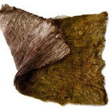Mulberry Silk Cocoon Sheet for Felting Hand Dyed Brown Gold Mix 12393| Silk Cocoon Sheets | Sally Ridgway | Shop Wool, Felt and Fibre Online