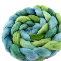 Corriedale Wool Sliver/Roving/Top Hand Dyed Blue Green Mix 12403| Corriedale Wool | Sally Ridgway | Shop Wool, Felt and Fibre Online