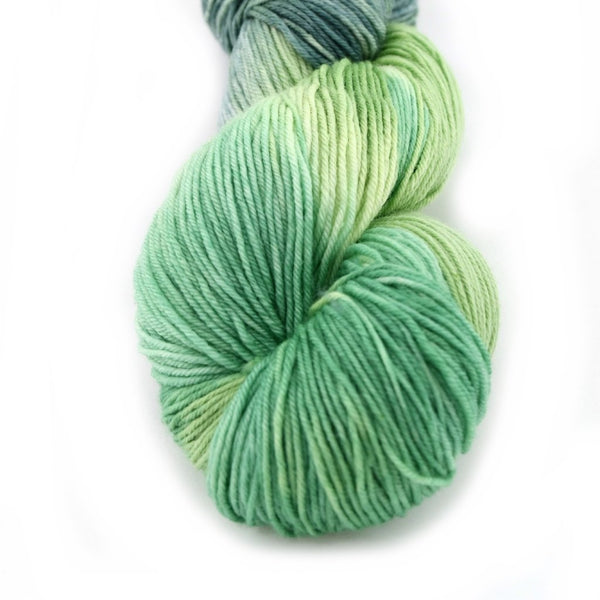 Sock Yarn 4 Ply Australian Merino Wool Yarn Hand Dyed Green Mix 12426| Sock Yarn | Sally Ridgway | Shop Wool, Felt and Fibre Online