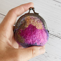 Wool Felted Coin Purse Stitch Marker Pouch, Backpack or Handbag Purse 12549| Coin Purse | Sally Ridgway | Shop Wool, Felt and Fibre Online