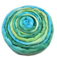 Merino Wool Roving Australian Combed Top Green Opal Mix 12563| Merino wool tops | Sally Ridgway | Shop Wool, Felt and Fibre Online