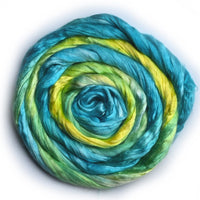 Silk Roving Hand Dyed Yellow Opal 20 Grams 12600| Silk Roving/Sliver | Sally Ridgway | Shop Wool, Felt and Fibre Online