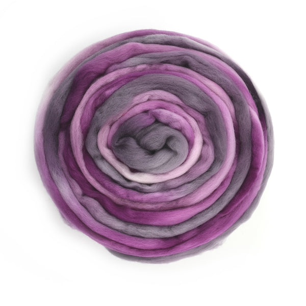 Merino Wool Roving Australian Combed Top Pink Purple Blend 12636| Merino wool tops | Sally Ridgway | Shop Wool, Felt and Fibre Online