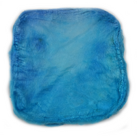 Mulberry Silk Hankies Hand Dyed Sky Blue 10 grams 12651| Silk Hankies | Sally Ridgway | Shop Wool, Felt and Fibre Online