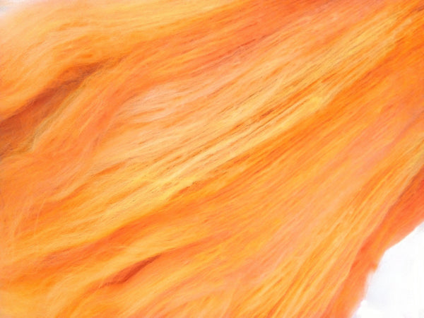 Australian Merino Wool Carded Batts Hand Dyed Yellow Orange 100 g 11751| Merino Wool Batts | Sally Ridgway | Shop Wool, Felt and Fibre Online