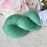 4 Ply Supreme Sock Yarn Hand Dyed Minty Green 13290| Sock Yarn | Sally Ridgway | Shop Wool, Felt and Fibre Online