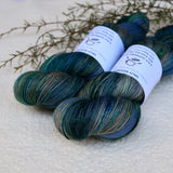 4 ply Supreme Sock Yarn Hand Dyed Nordic Sea 13389| Sock Yarn | Sally Ridgway | Shop Wool, Felt and Fibre Online
