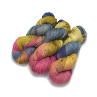4 Ply Pure Australian Merino Wool Yarn Hand Dyed Rustic Rainbow 13059| 4 Ply Pure Merino Yarn | Sally Ridgway | Shop Wool, Felt and Fibre Online