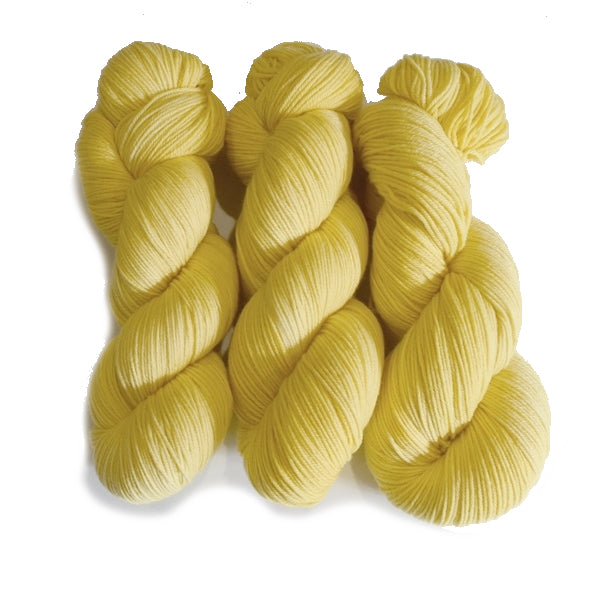 4 Ply Pure Australian Merino Wool Yarn Hand Dyed Baby Yellow 13067| 4 Ply Pure Merino Yarn | Sally Ridgway | Shop Wool, Felt and Fibre Online