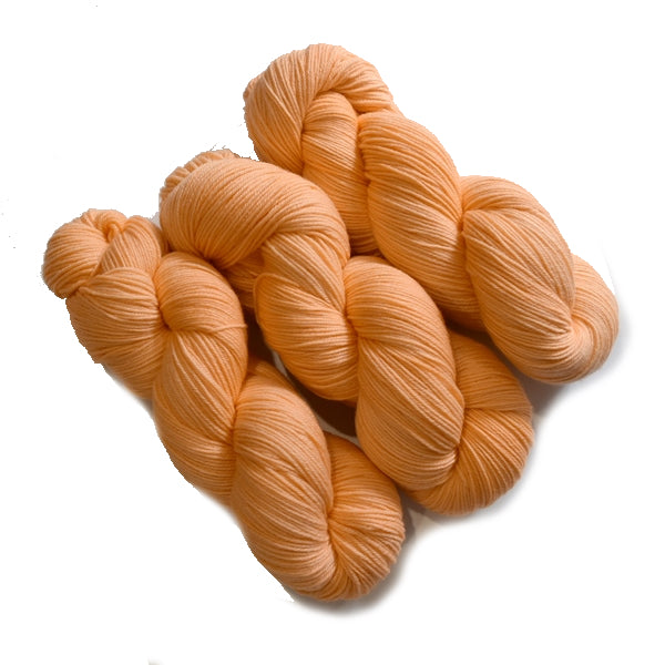 4 Ply Pure Australian Merino Wool Yarn Hand Dyed Baby Orange 13068| 4 Ply Pure Merino Yarn | Sally Ridgway | Shop Wool, Felt and Fibre Online
