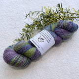 4 Ply Supreme Sock Knitting Yarn Hand Dyed Dusty Peacock 12384| Sock Yarn | Sally Ridgway | Shop Wool, Felt and Fibre Online