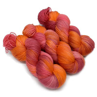 4 ply Supreme Sock Yarn Hand Dyed Blood Orange 12985| Sock Yarn | Sally Ridgway | Shop Wool, Felt and Fibre Online