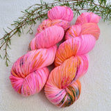 4 Ply Supreme Sock Yarn Hand Dyed Bubble Gum 13370| Sock Yarn | Sally Ridgway | Shop Wool, Felt and Fibre Online