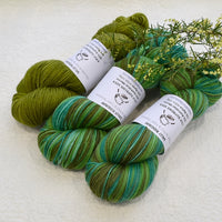 4 ply Supreme Sock Yarn Hand Dyed Greengage 13256| Sock Yarn | Sally Ridgway | Shop Wool, Felt and Fibre Online