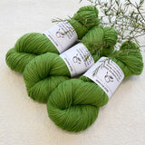 4 ply Supreme Sock Yarn Hand Dyed Pear Green 13211| Sock Yarn | Sally Ridgway | Shop Wool, Felt and Fibre Online