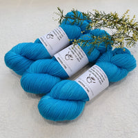 4 ply Supreme Sock Yarn Hand Dyed Peruvian Blue 13175| Sock Yarn | Sally Ridgway | Shop Wool, Felt and Fibre Online