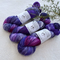 4 ply Supreme Sock Yarn Hand Dyed Purple Passion 13164| Sock Yarn | Sally Ridgway | Shop Wool, Felt and Fibre Online