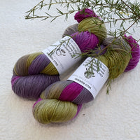 4 ply Supreme Sock Yarn Hand Dyed Purple Rose 13124| Sock Yarn | Sally Ridgway | Shop Wool, Felt and Fibre Online