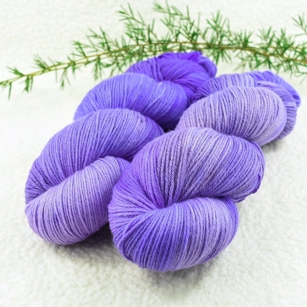 4 Ply Pure Merino Wool Yarn Hand Dyed Pale Purple Patch 13200| 4 Ply Pure Merino Yarn | Sally Ridgway | Shop Wool, Felt and Fibre Online