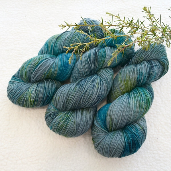 4 ply Supreme Sock Yarn Hand Dyed Peacock 13311| Sock Yarn | Sally Ridgway | Shop Wool, Felt and Fibre Online