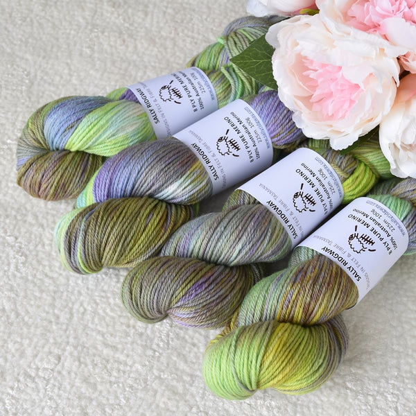 8 Ply DK Pure Merino Wool Yarn in Lavender Field| 8 ply Pure Merino Yarn | Sally Ridgway | Shop Wool, Felt and Fibre Online