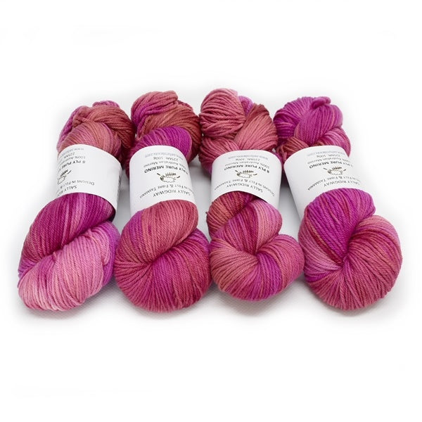 8 Ply DK Pure Merino Wool Yarn - French Rose 12851| 8 ply Pure Merino Yarn | Sally Ridgway | Shop Wool, Felt and Fibre Online