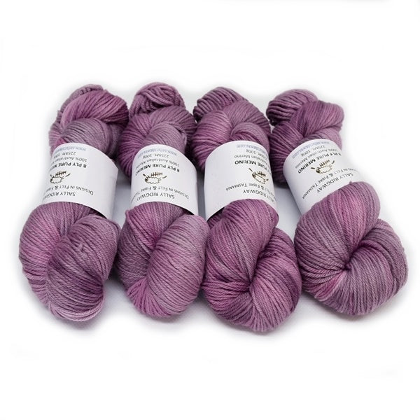 8 Ply DK Pure Merino Wool Yarn - Crushed Raspberry 12846| 8 ply Pure Merino Yarn | Sally Ridgway | Shop Wool, Felt and Fibre Online
