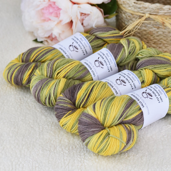 8 Ply Pure Merino Wool Yarn in Silver Wattle 13251| 8 ply Pure Merino Yarn | Sally Ridgway | Shop Wool, Felt and Fibre Online