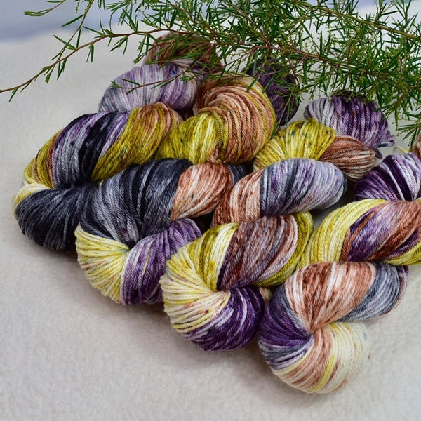 8 Ply DK Pure Merino Wool Yarn in Spiced Lilac 13354| 8 ply Pure Merino Yarn | Sally Ridgway | Shop Wool, Felt and Fibre Online