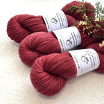 8 Ply Pure Merino Wool Yarn in Native Cherry| 8 ply Pure Merino Yarn | Sally Ridgway | Shop Wool, Felt and Fibre Online