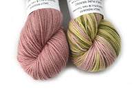 8 Ply Pure Merino Wool Mill Spun Knitting Yarn in Pink Green 12423| 8 ply Pure Merino Yarn | Sally Ridgway | Shop Wool, Felt and Fibre Online