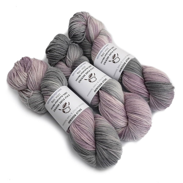 8 Ply Pure Merino Wool Yarn in Dusty Lavender 13047| 8 ply Pure Merino Yarn | Sally Ridgway | Shop Wool, Felt and Fibre Online