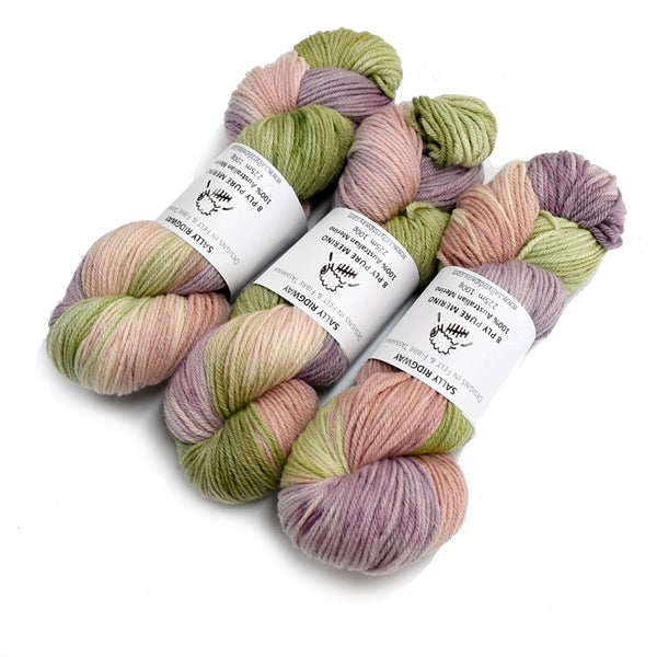 8 Ply Pure Merino Wool Yarn in Cottage Garden 13051| 8 ply Pure Merino Yarn | Sally Ridgway | Shop Wool, Felt and Fibre Online
