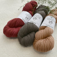 8 Ply Pure Merino Wool Yarn in Cocoa| 8 ply Pure Merino Yarn | Sally Ridgway | Shop Wool, Felt and Fibre Online