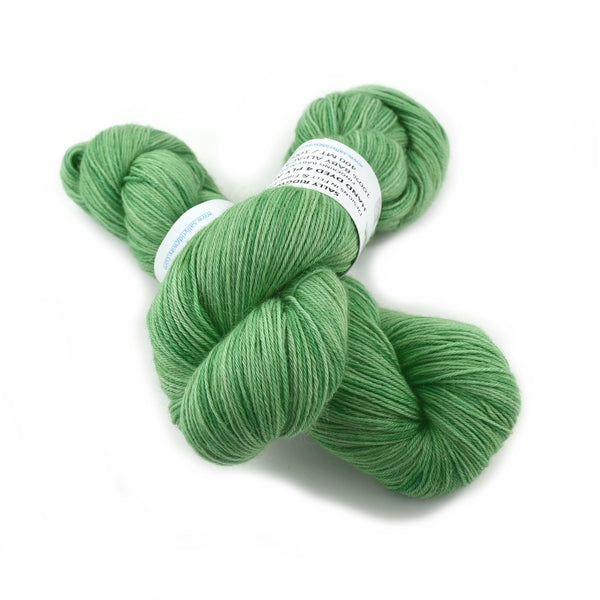 100% Baby Alpaca Yarn 4 Ply Fingering Weight Hand Dyed in a Pretty Green 12744| 4 Ply Alpaca Yarn | Sally Ridgway | Shop Wool, Felt and Fibre Online