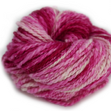 Alpaca & Merino Chunky Yarn Pink White 12004| Hand Spun Yarn | Sally Ridgway | Shop Wool, Felt and Fibre Online