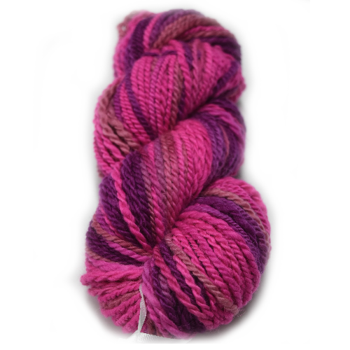 Alpaca and Merino chunky knitting yarn 50/50 Pink Purple 11875| Hand Spun Yarn | Sally Ridgway | Shop Wool, Felt and Fibre Online