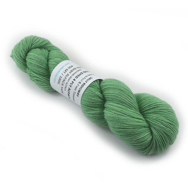 100% Baby Alpaca Yarn 4 Ply Fingering Weight Hand Dyed in a Mint Green 12746| 4 Ply Alpaca Yarn | Sally Ridgway | Shop Wool, Felt and Fibre Online