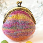 Apricot Wet Felted Coin Purse or Jewellery Pouch 12365| Coin Purse | Sally Ridgway | Shop Wool, Felt and Fibre Online