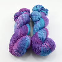 Sock Yarn 4 Ply Australian Merino Wool Knitting Yarn Hand Dyed Blueberry 12880| Sock Yarn | Sally Ridgway | Shop Wool, Felt and Fibre Online
