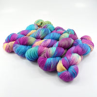 Sock Yarn 4 Ply Australian Merino Wool Knitting Yarn Hand Dyed Tropicana 12887| Sock Yarn | Sally Ridgway | Shop Wool, Felt and Fibre Online