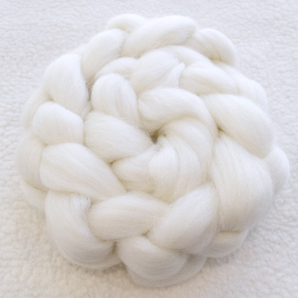 Australian Corriedale Combed Wool Top 100 grams| Undyed Wool Roving Top | Sally Ridgway | Shop Wool, Felt and Fibre Online