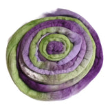 Australian Merino Wool Roving/Top Purple Green Mix 12354| Merino wool tops | Sally Ridgway | Shop Wool, Felt and Fibre Online