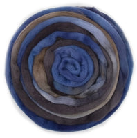 Australian Merino Wool Roving Combed Top Hand Dyed Brown Blue 12774| Merino Wool Tops | Sally Ridgway | Shop Wool, Felt and Fibre Online