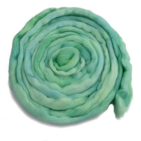 Tasmanian Merino Wool Combed Top (Roving) in Spearmint 12974| Merino Wool Tops | Sally Ridgway | Shop Wool, Felt and Fibre Online