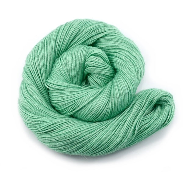 Baby Alpaca Yarn 4 Ply Hand Dyed Mint Green 12195| 4 Ply Alpaca Yarn | Sally Ridgway | Shop Wool, Felt and Fibre Online