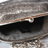 Black & Brown Clutch Evening Bag in Wool Felt 11734| Wool Felt Bags | Sally Ridgway | Shop Wool, Felt and Fibre Online