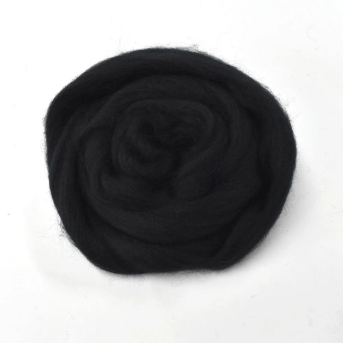 Black Corriedale Wool Sliver for Felting & Spinning | Corriedale Wool | Sally Ridgway | Shop Wool, Felt and Fibre Online