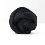Black Merino Wool Roving Combed Wool Tops | Merino wool tops | Sally Ridgway | Shop Wool, Felt and Fibre Online