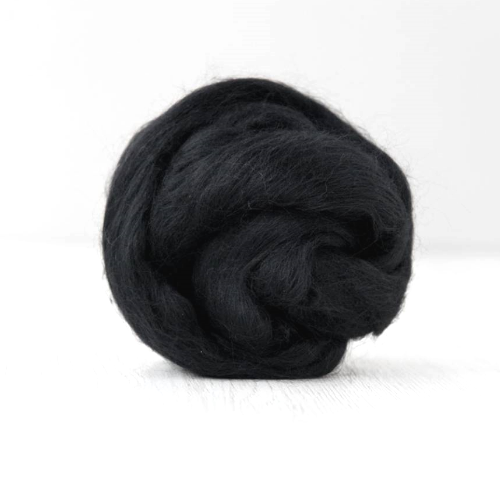 Black Merino Wool Roving Combed Wool Tops| Merino wool tops | Sally Ridgway | Shop Wool, Felt and Fibre Online